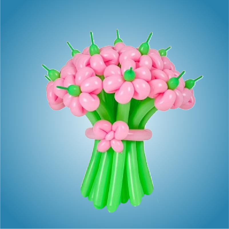 Цветы, букеты из воздушных шаров
