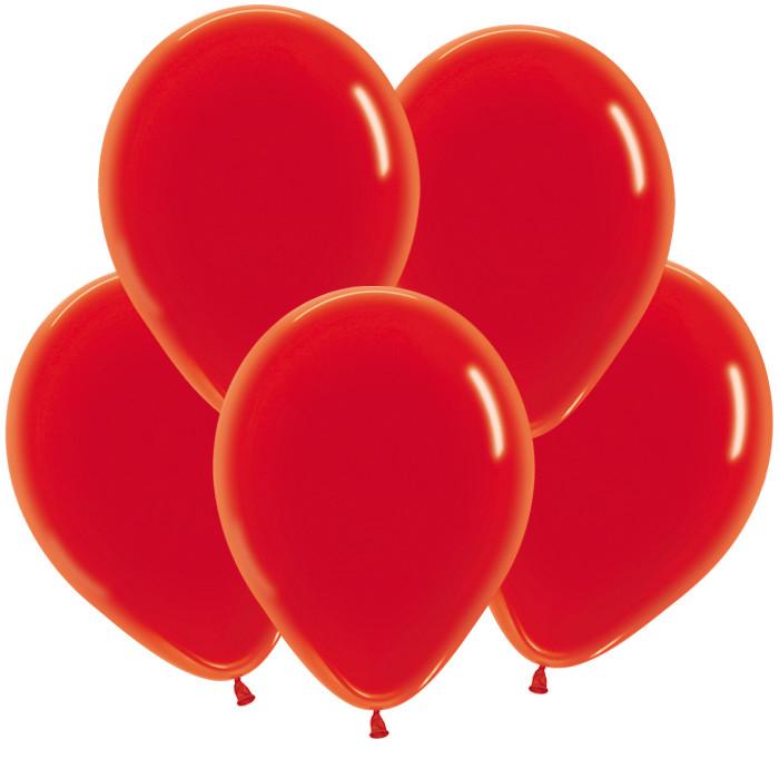 Красный, Кристал, 12,5 см / 100 шт / Колумбия
