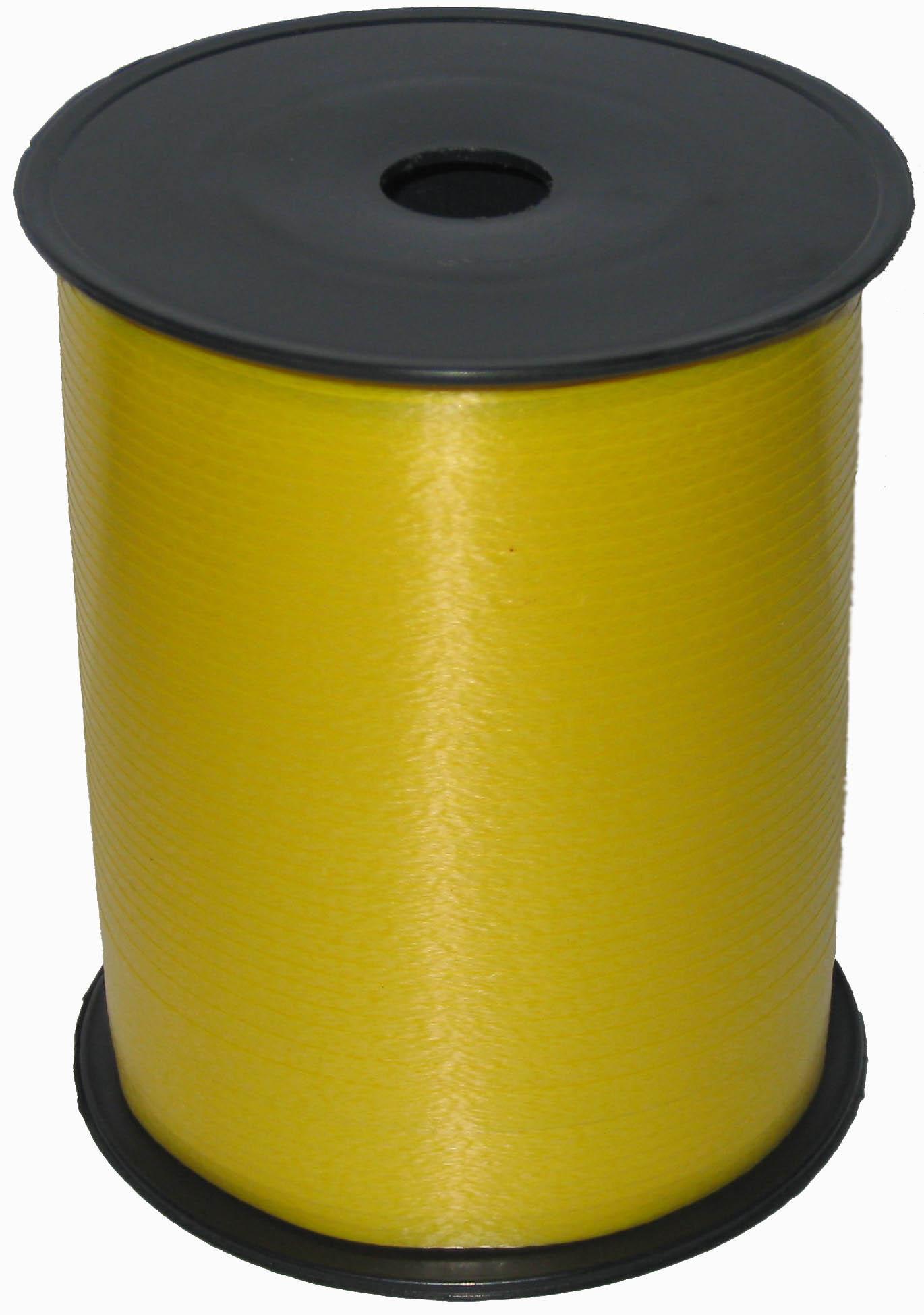Лента цвет Желтый, бобина 0,5 см / 500 м, Россия
