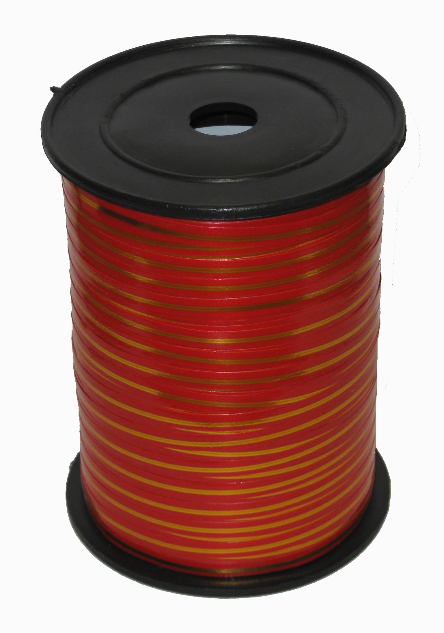 Лента с Золотой полоской Красная, бобина 0,5 см / 250 м, Россия