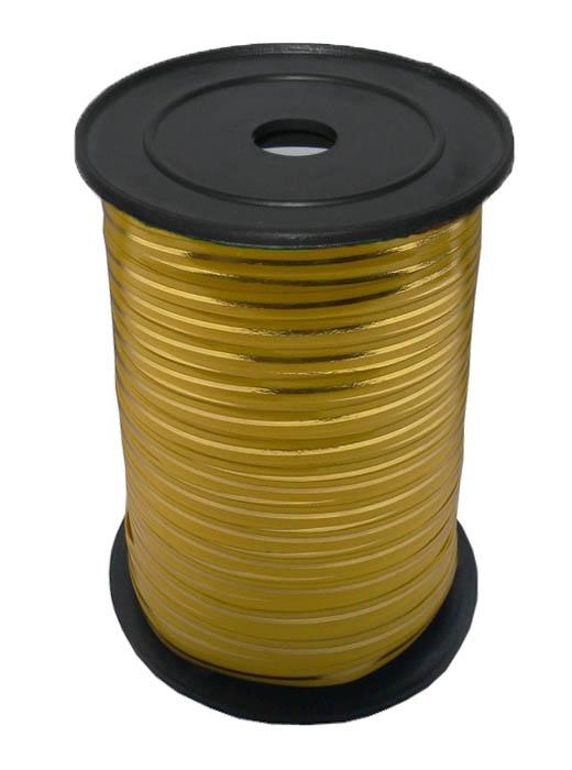 Лента с Золотой полоской Желтая, бобина 0,5 см / 250 м, Россия