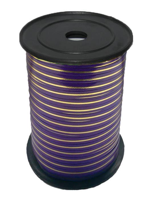 Лента с Золотой полоской Фиолетовая, бобина 0,5 см / 250 м, Россия