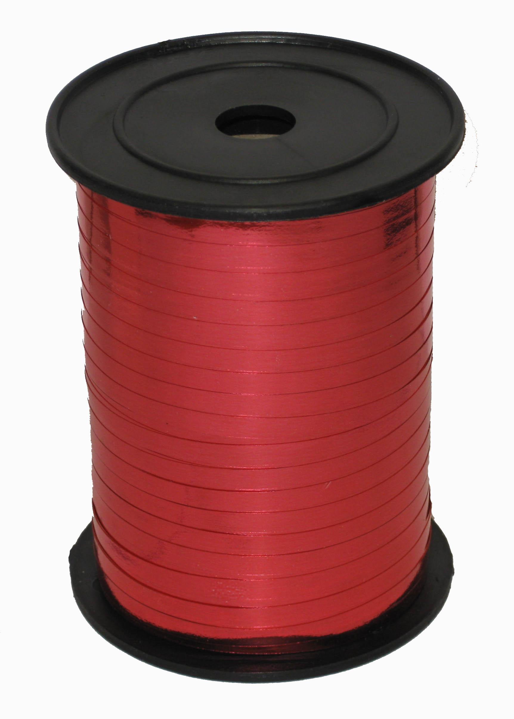 Лента Красная металл, бобина 0,5 см / 250 м / Россия
