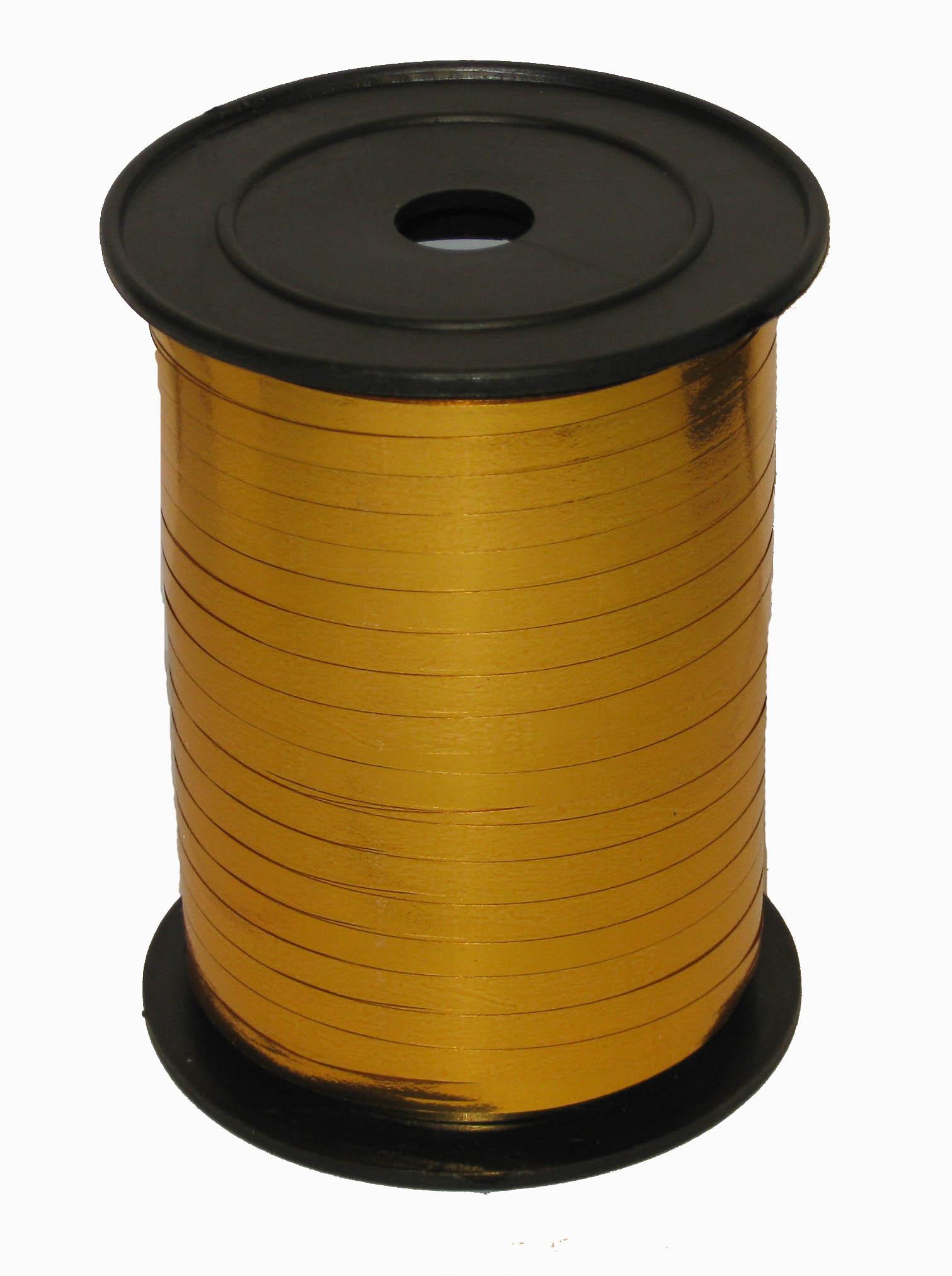 Лента Золото металл, бобина 0,5 см / 250 м / Россия