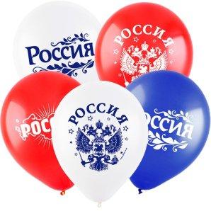 Россия (3 дизайна), Ассорти Пастель, /30 см / 100 шт / Турция