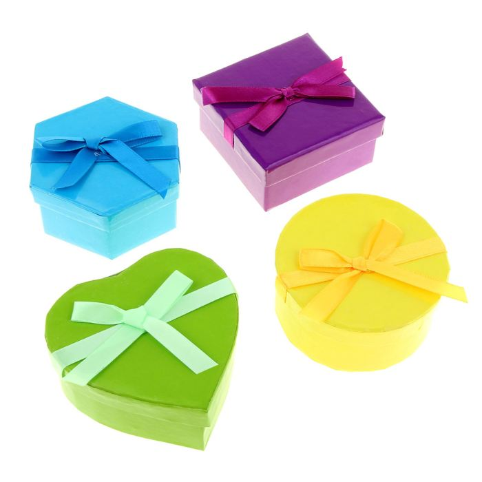 Ассорти коробок (сердце, круг, квадрат, шестиугольник)