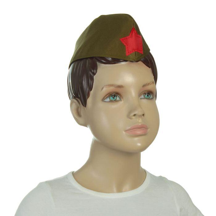 Пилотка военного, детская, р-р 52 см