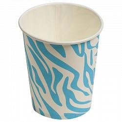 Стаканы Окрас зебры, Голубой, 180мл, 6шт