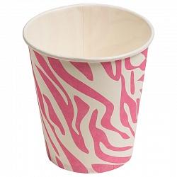 Стаканы Окрас зебры, Розовый, 180мл, 6шт