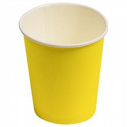Стаканы Однотонные, Желтый, 180мл, 6шт