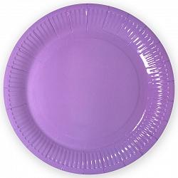 Тарелки однотонные, Сиреневый, 18 см, 6шт
