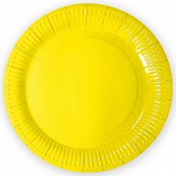 Тарелки однотонные, Желтый, 7 дюймов, 6шт
