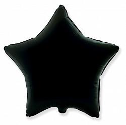 Шар Звезда, Черный, 48 см