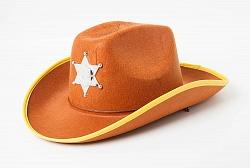 Шляпа Шериф, коричневая