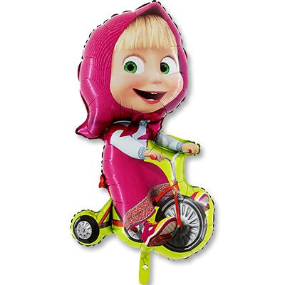 Шар фигура Маша на велосипеде, 99 см высота