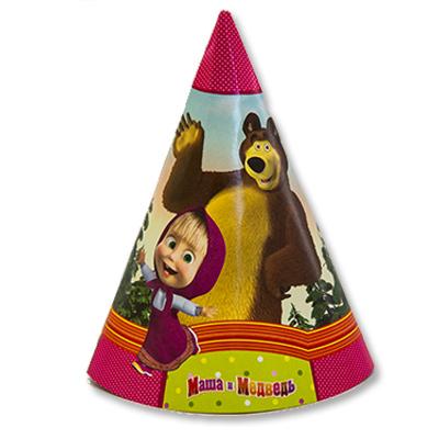 Колпачки Маша и Медведь, 6 штук