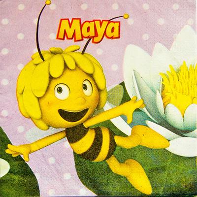 Салфетки Пчелка Майя, 16 штук в упаковке, размером 33*33 см