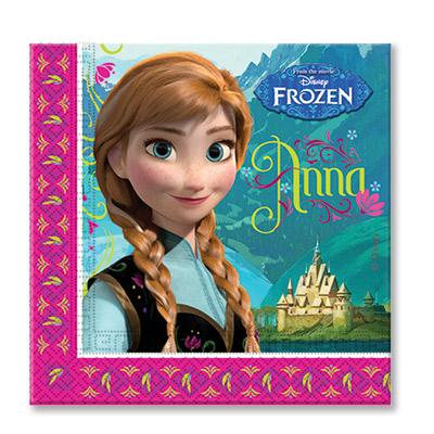Салфетки Frozen Холодное Сердце, 20 штук в упаковке, размером 33*33 см