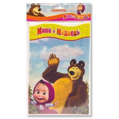 Скатерть п/э Маша и Медведь, 130х180 см