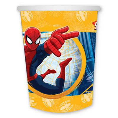 Стаканы бумажные Человек-Паук, 6 штук в упаковке, объем 250 мл
