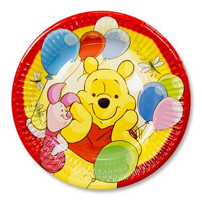 Тарелки малые Винни Пух и друзья, 8 штук в упаковке, диаметр 20 см