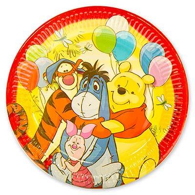 Тарелки большие Винни Пух и друзья, 8 шт в упаковке, диаметр 23 см
