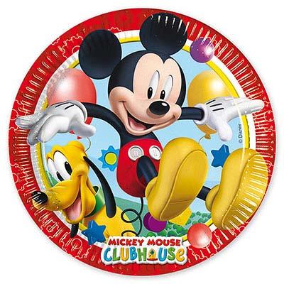 Тарелки Микки Игривый, 8 штук в упаковке, диаметр 23 см