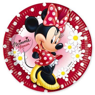 Тарелка Минни Ромашки, 8 шт в упаковке, диаметр 23 см