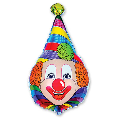 Шар фигура Клоун в колпаке, 45*72 см
