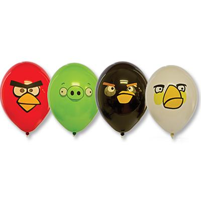 Шары с многоцветным рисунком Angry Birds, размер шарика: 35 см