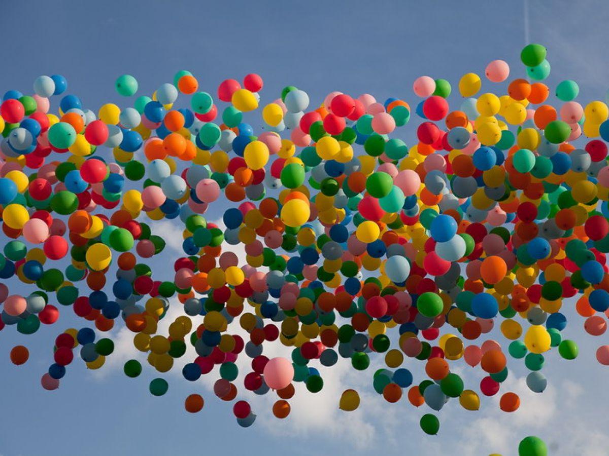 Гелиевые шары для запуска в небо