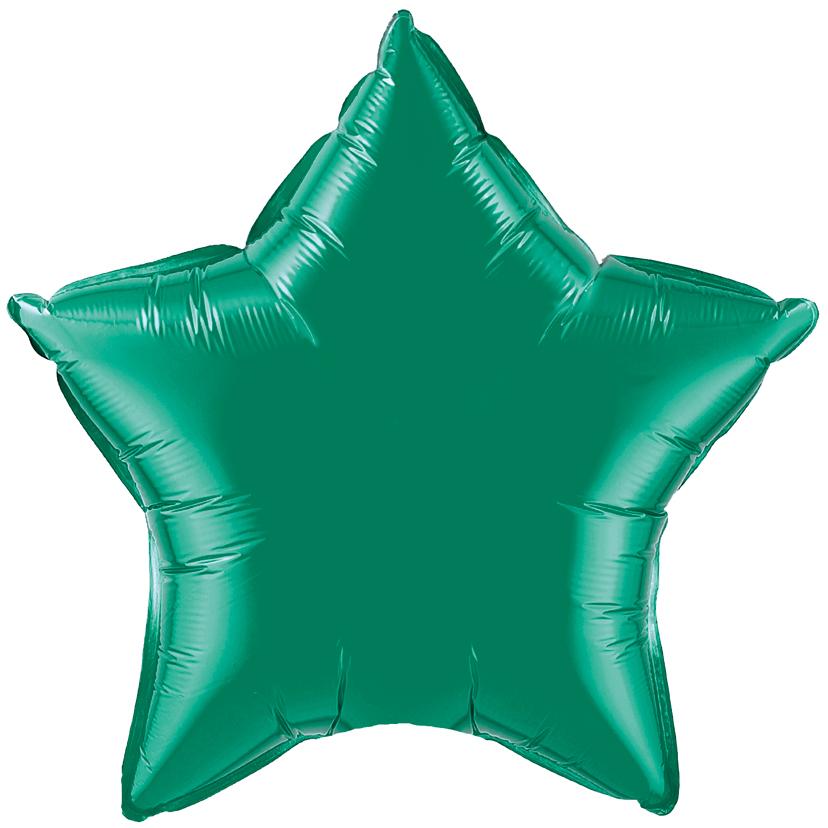 Шар Звезда Зелёный, 48 см