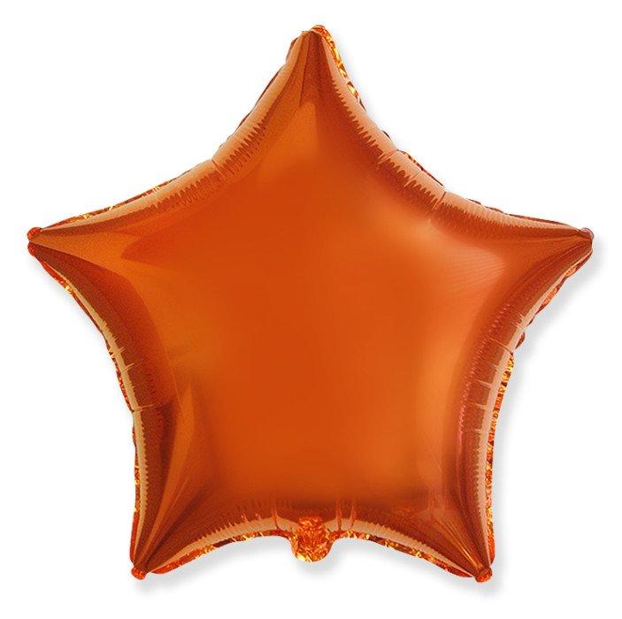 Шар Звезда Оранжевый, 48 см