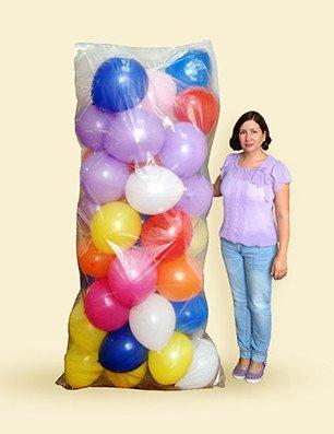 Пакет для транспортировки надутых шаров Многоразовый / Balloon PE Bag / 1,2*2,42 м / 1 шт / Китай