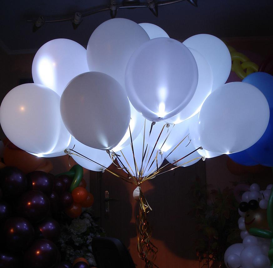 Гелиевые шары со светодиодами (светятся в темноте)