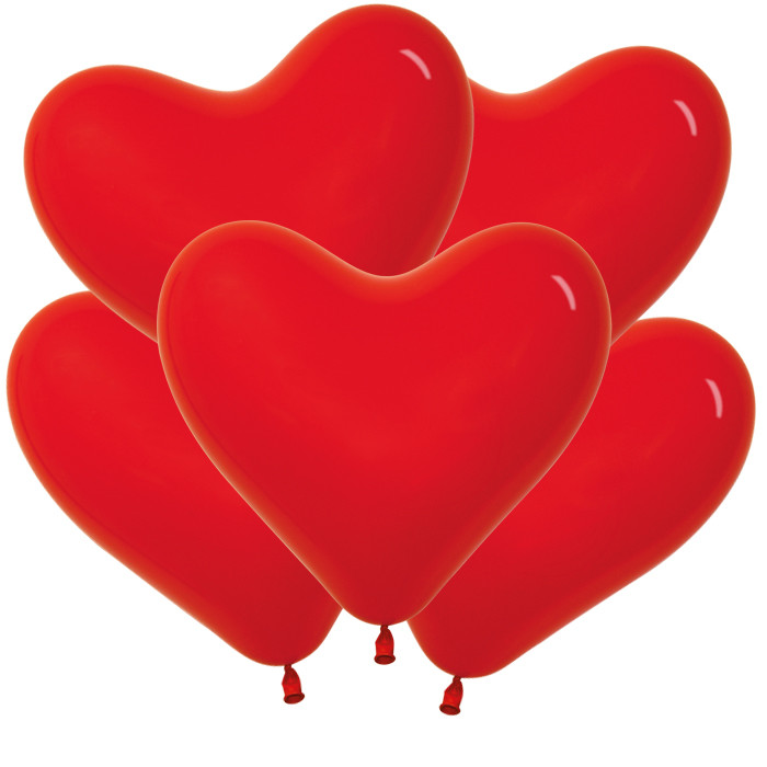 Сердце Красный, Пастель, 15 см / 100 шт / Колумбия