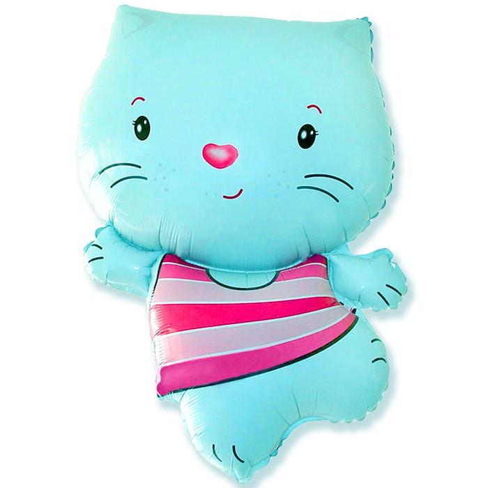 Котёнок (синий), 79*53 см