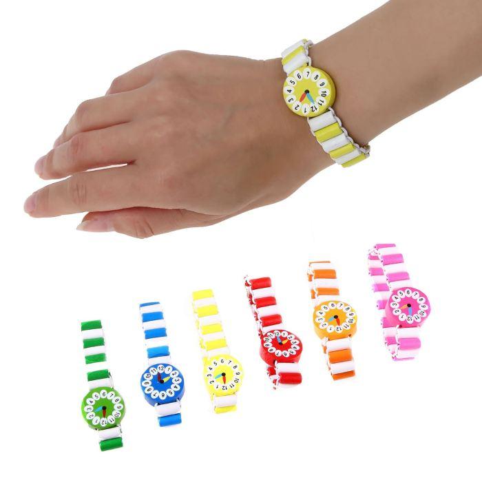 Часы детские, на резиночке, цвета МИКС