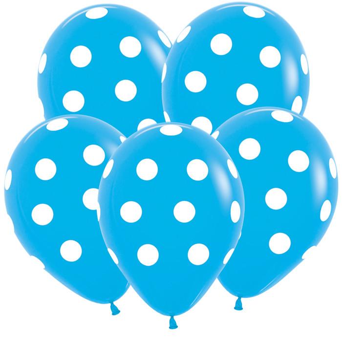 Большие кружки, Голубой Пастель, 5 сторонняя печать, 30 см / 50 шт, Колумбия