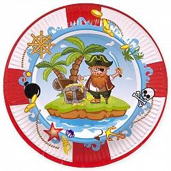 Тарелки Пираты, диаметр 23 см, набор 6шт