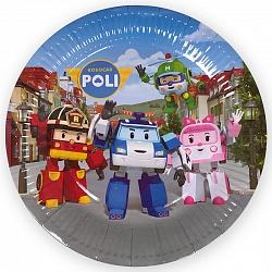 Тарелки Робокар Поли, диаметр 18 см, набор 6шт