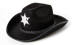 Шляпа Шериф, черная