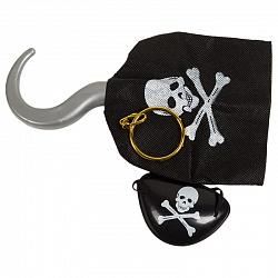 Набор пирата №6 (крюк, серьга и повязка на глаз)