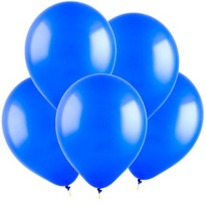 Синий, Пастель, 12,5 см, 100 шт, ВЕСЕЛУХА