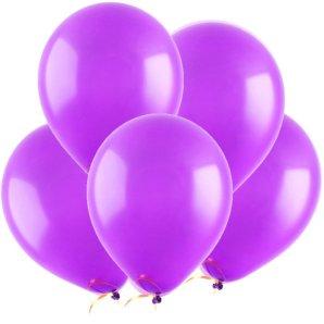 Фиолетовый, Пастель, 12,5 см, 100 шт, ВЕСЕЛУХА