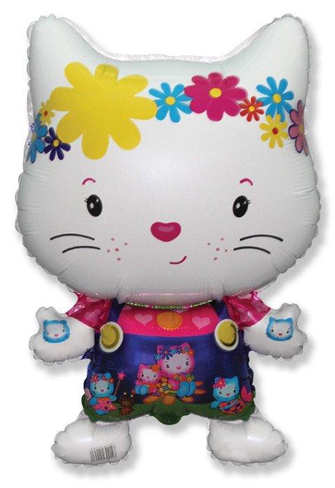 Котёнок с друзьями (белый), 74*48 см