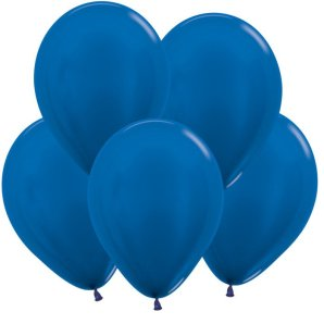 Синий, Метал, 12,5 см, 100 шт / Колумбия