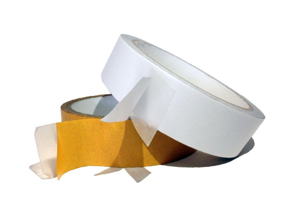 Лента клейкая двусторонняя на полипропиленовой основе, 25 мм*10 м / Россия