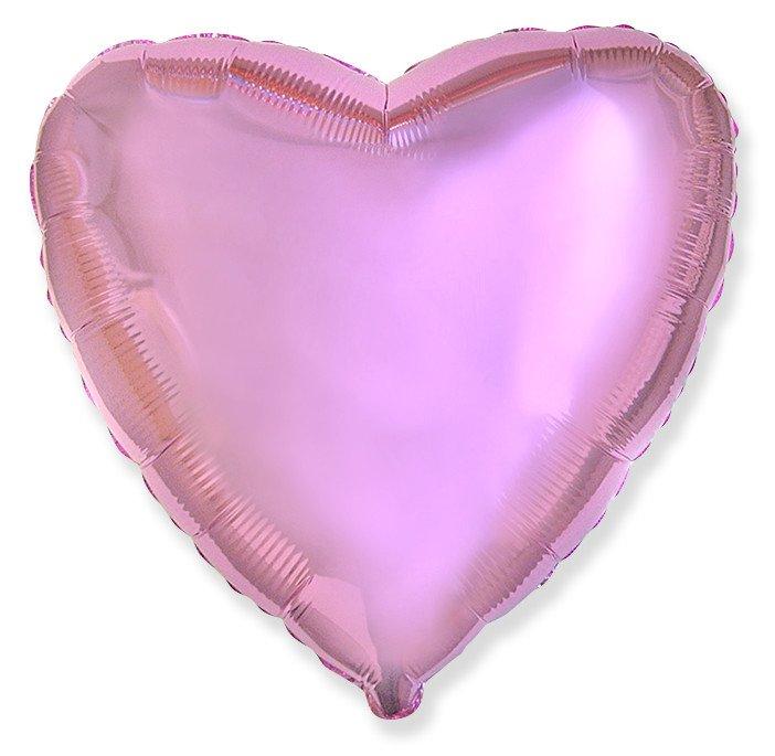 Сердце Розовый нежный, 48 см, Испания