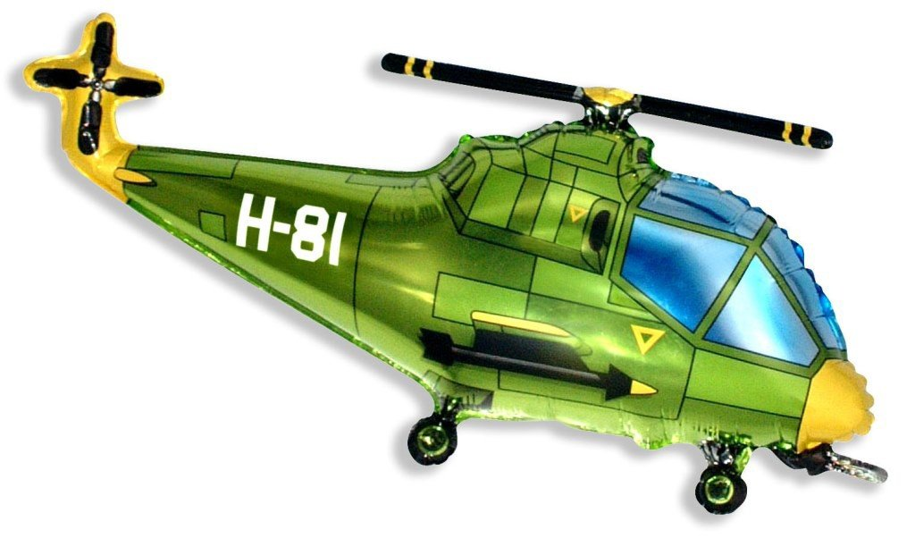 Вертолёт (зелёный), 56*97 см